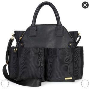 Skip Hop Chelsea Diaper Bag Satchel Black and Gold